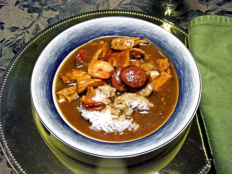 Bourque's Cajun Tasso, Sausage, and Chicken Gumbo